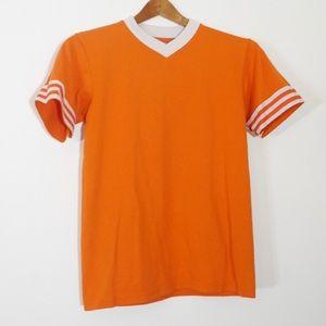 Soffe Tops - 🆕 VTG SOFFE Orange Cotton Sports V Neck Tee